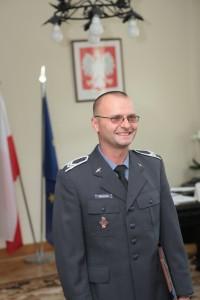 St. sierż. Arkadiusz Paluch u Wojewody - fot. M. Cabaj