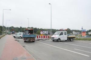Kilka minut przed otwarciem ruchu na moście w Straszynie - fot. MC
