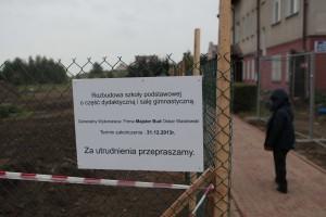 Budowa szkoły w Borkowie - fot. MC