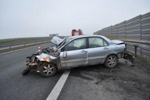 A1 wypadek