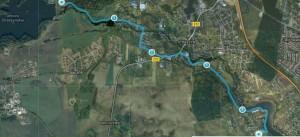 Trasa biegu Straszyn -Juszkowo - kliknij aby powiększyć