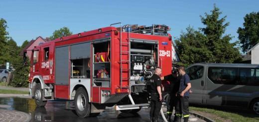 Strażacy w Bystrej - fot. MC