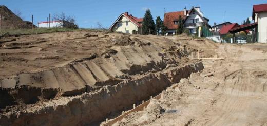 Plac budowy nowego przedszkola w Straszynie