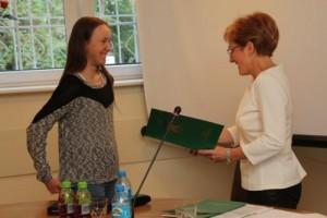 Karolina otrzymała Nagrodę Wójta za wybitne osiągnięcia sportowe